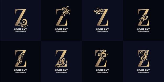 Kolekcja litery z logo z luksusowym ornamentem