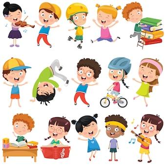 Kolekcja little cartoon dzieci