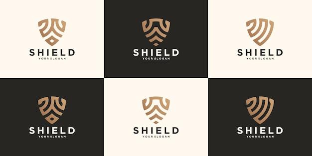Kolekcja logo abstrakcyjnej tarczy