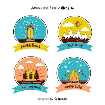 Kolekcja logo adventure