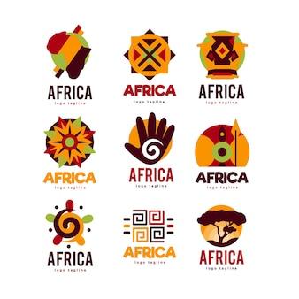 Kolekcja logo afryki