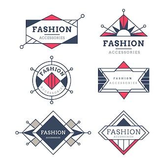 Kolekcja logo akcesoriów mody
