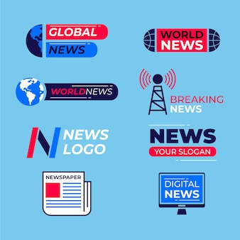 Kolekcja logo aktualności