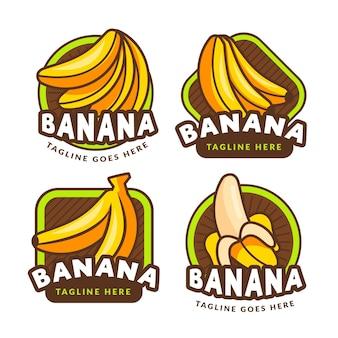 Kolekcja logo bananów