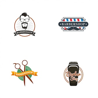 Kolekcja logo barbershop