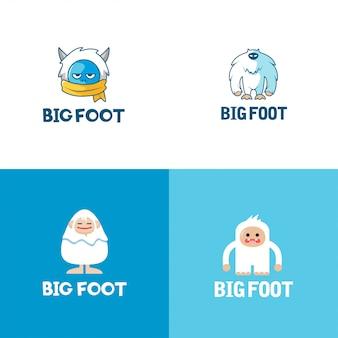 Kolekcja logo big foot