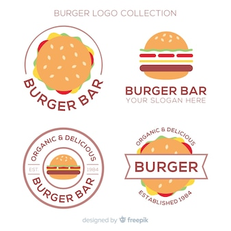 Kolekcja logo burger