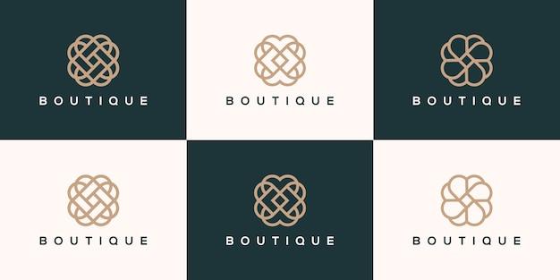 Kolekcja logo butiku