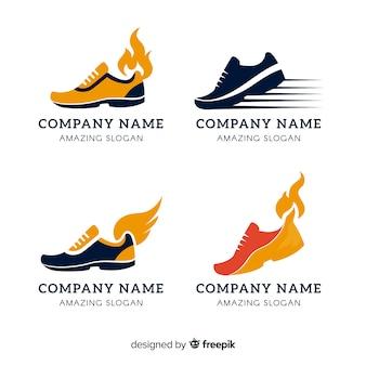 Kolekcja logo butów do biegania