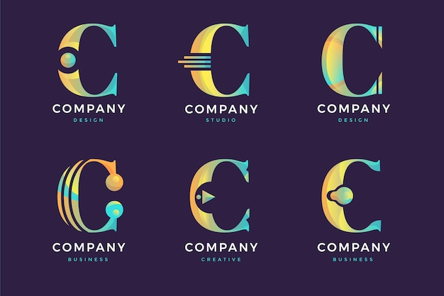 Kolekcja logo c.