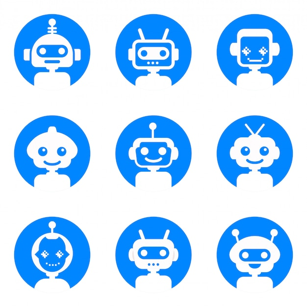 Kolekcja logo chatbot