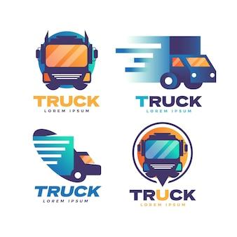 Kolekcja logo ciężarówki gradientu