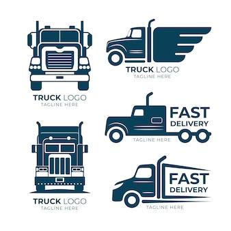 Kolekcja logo ciężarówki płaskiej