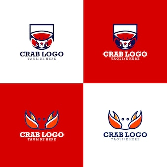Kolekcja logo crab