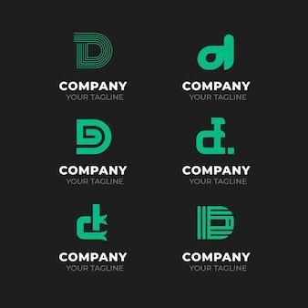 Kolekcja logo d płaska konstrukcja