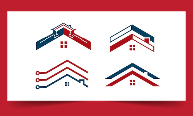 Kolekcja logo dachu
