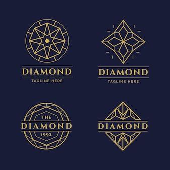 Kolekcja logo diamentów