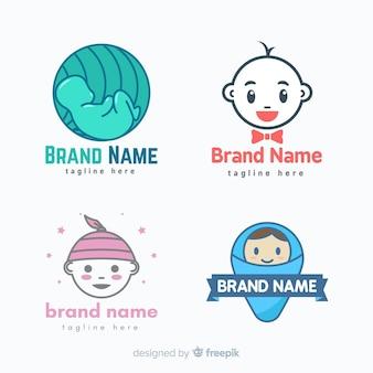 Kolekcja logo dla dzieci
