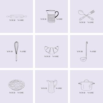 Kolekcja logo dla restauracji
