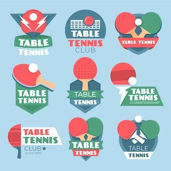 Kolekcja logo do tenisa stołowego