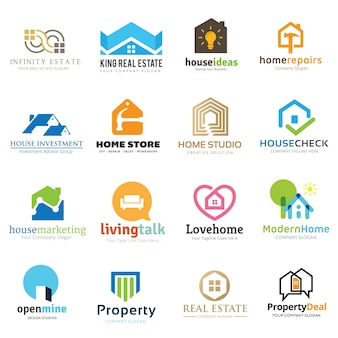 Kolekcja logo dom i nieruchomość.