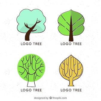 Kolekcja logo drzewek dla firm