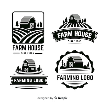Kolekcja logo farmy