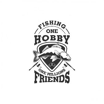 Kolekcja logo firmy rybackiej