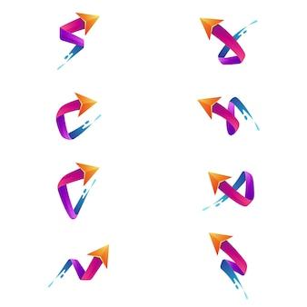 Kolekcja Logo Firmy Strzałka Premium Wektorów