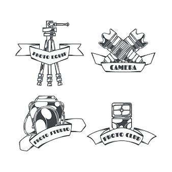Kolekcja logo fotografii w stylu vintage