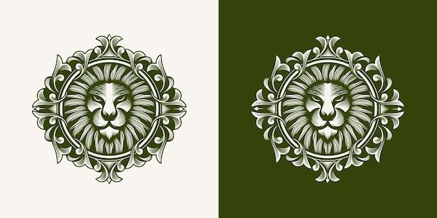 Kolekcja logo głowy lwa
