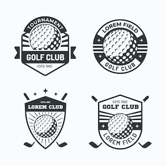 Kolekcja logo golfa w płaskiej konstrukcji