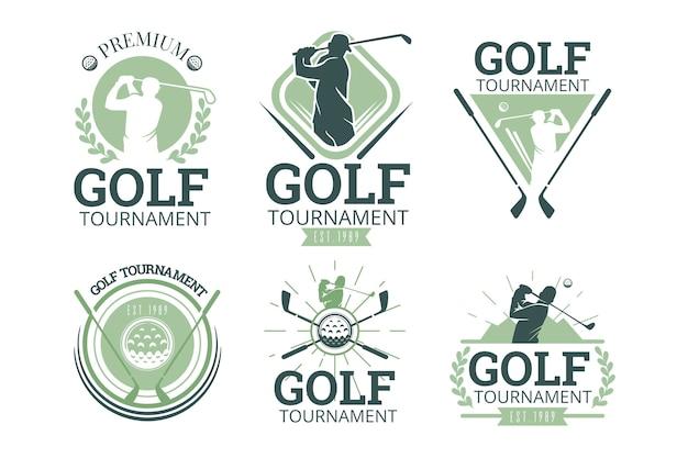 Kolekcja logo golfa w stylu vintage