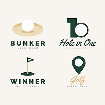 Kolekcja logo golfa