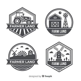 Kolekcja logo gospodarstwa płaskiego