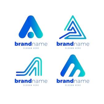 Kolekcja logo gradientu ai