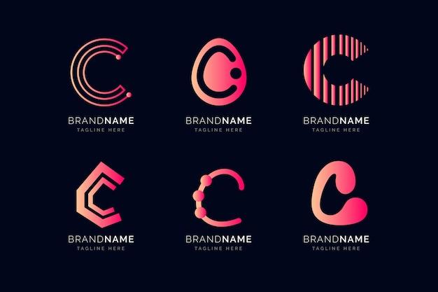 Kolekcja logo gradientu c