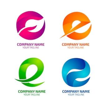Kolekcja logo gradientu e