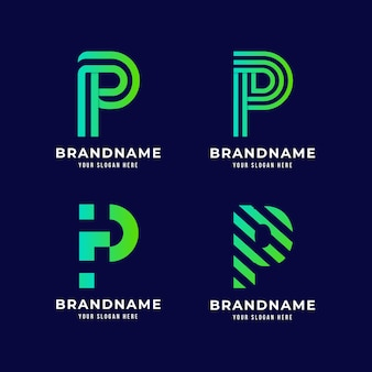Kolekcja logo gradientu p
