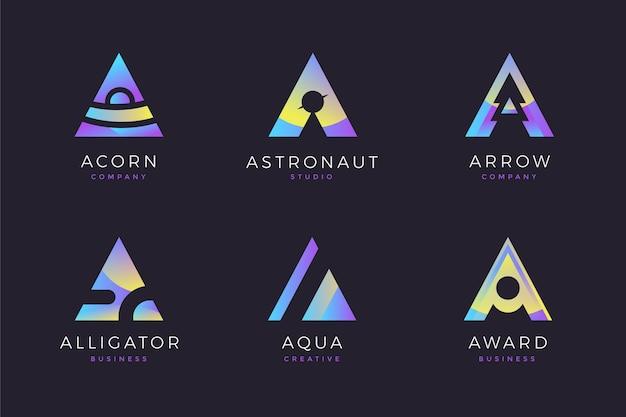 Kolekcja logo gradientu