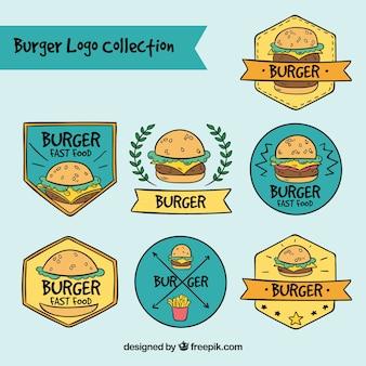Kolekcja logo hamburgera