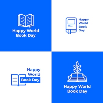 Kolekcja logo happy world book day