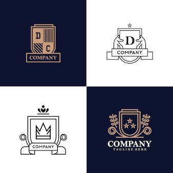 Kolekcja logo heraldyka