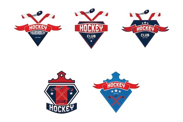 Kolekcja logo hokeja