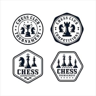 Kolekcja logo klubu szachowego