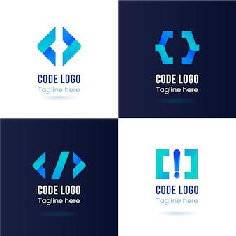 Kolekcja logo kodu