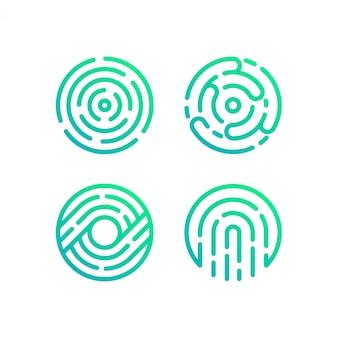 Kolekcja logo koła