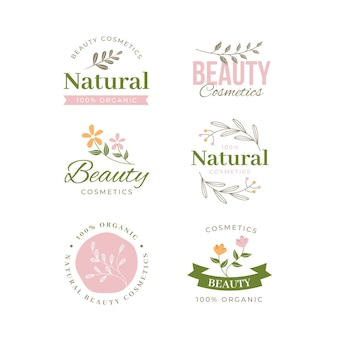 Kolekcja logo kosmetyki przyrody