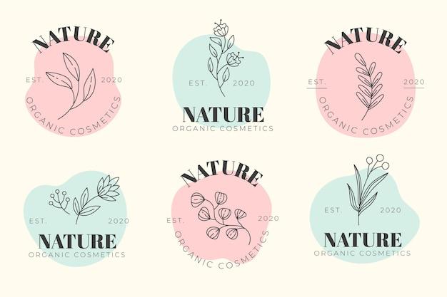 Kolekcja logo kosmetyków natury