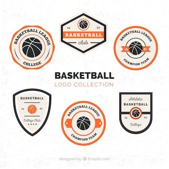 Kolekcja logo koszykówki